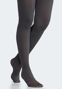 Plus Size Ribbed Tights