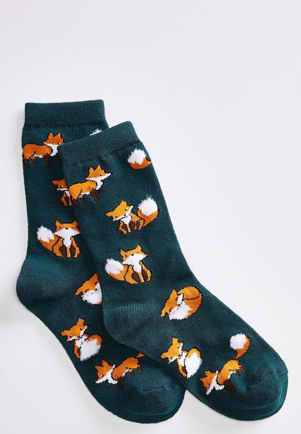 Fox Fluffy Tail Socks