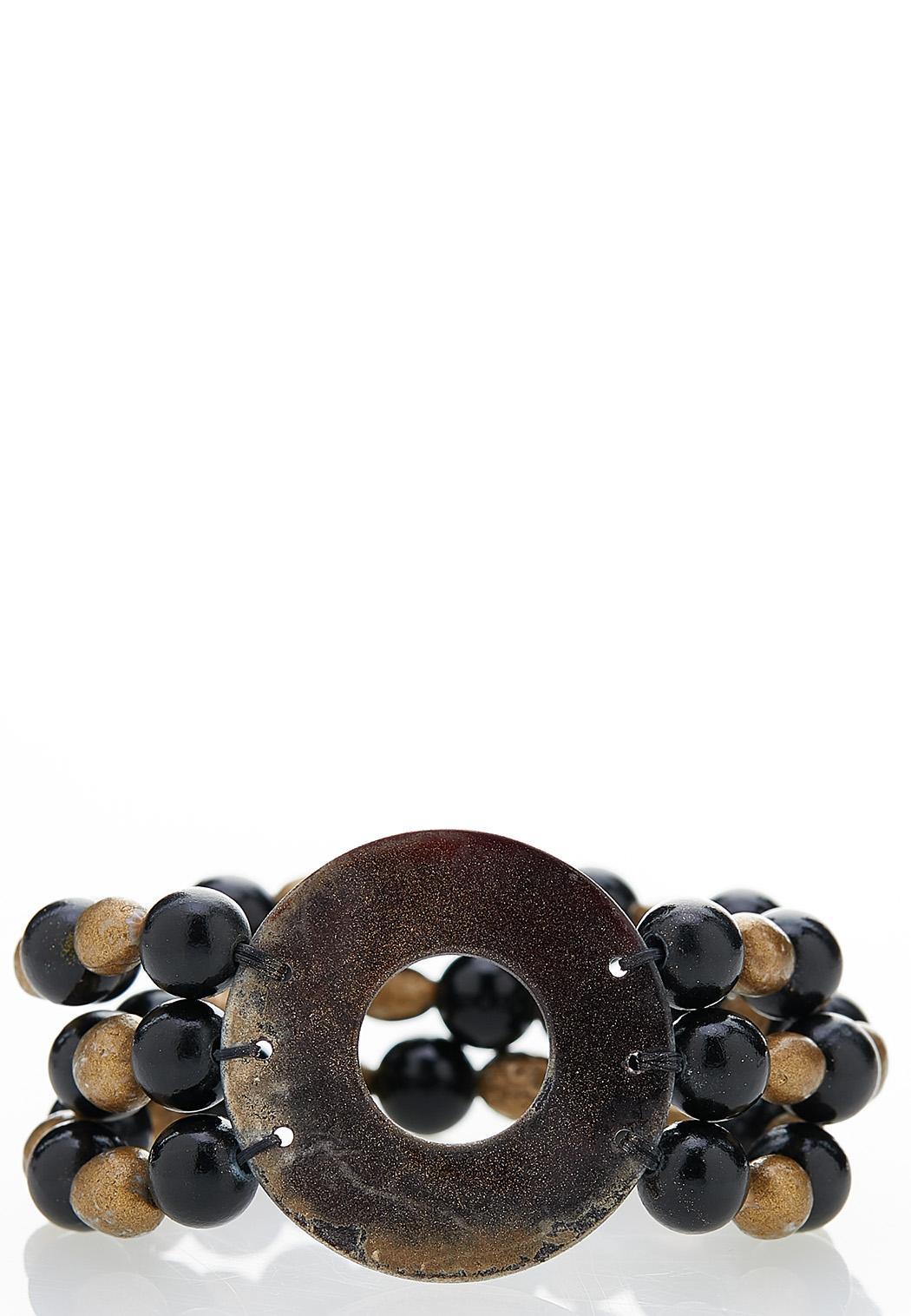 Tribal Bead Stretch Bracelet