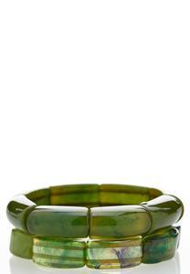 Green Multi Stretch Bracelet Set