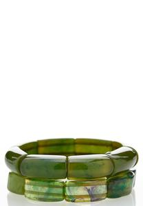 Green Multi Stretch Bracelet Set
