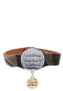 Inspirational Animal Print Bracelet