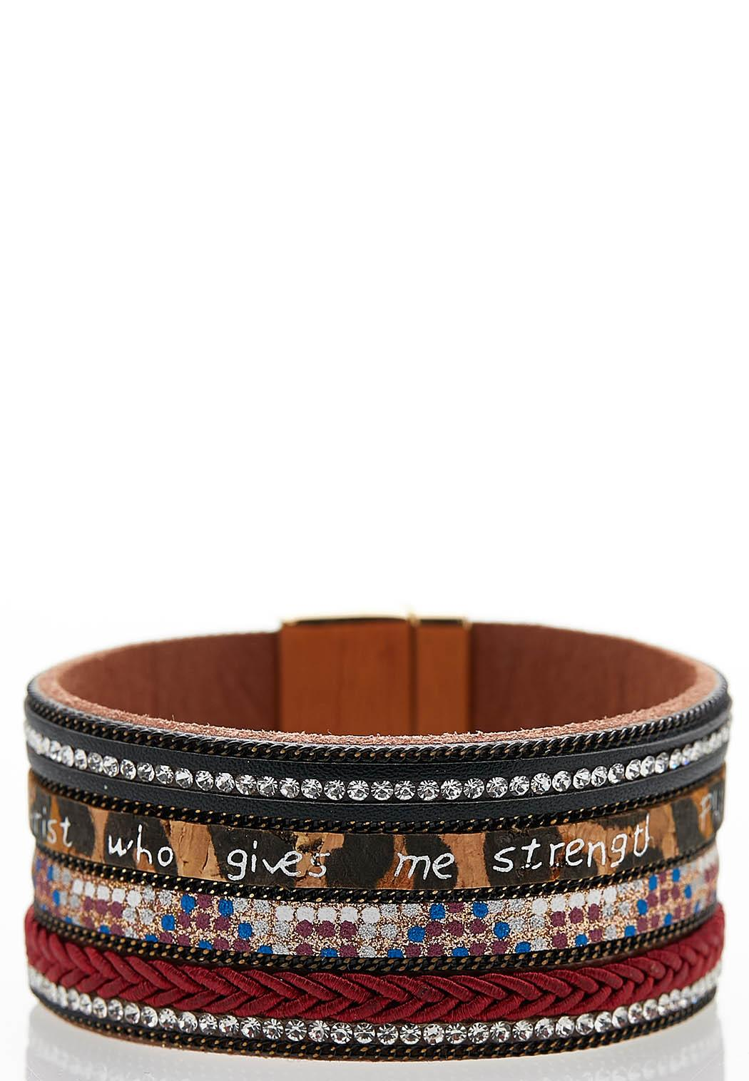 Inspirational Mixed Print Bracelet