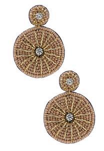 Metallic Fabric Back Earrings