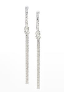 Knotted Linear Earrings