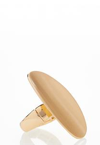 Smooth Oval Statement Ring