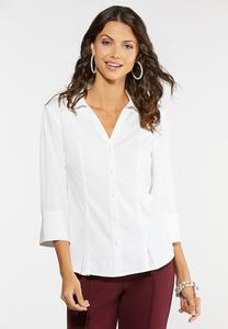 Button Down Pleated Shirt