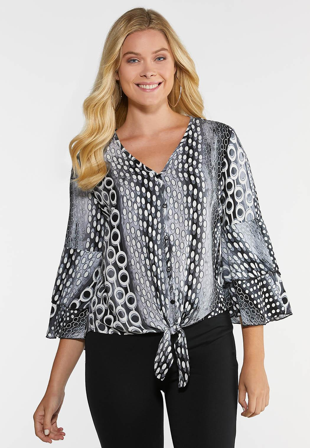 Plus Size Mod Tiered Sleeve Top