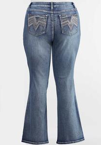 Plus Petite Chevron Bling Bootcut Jeans