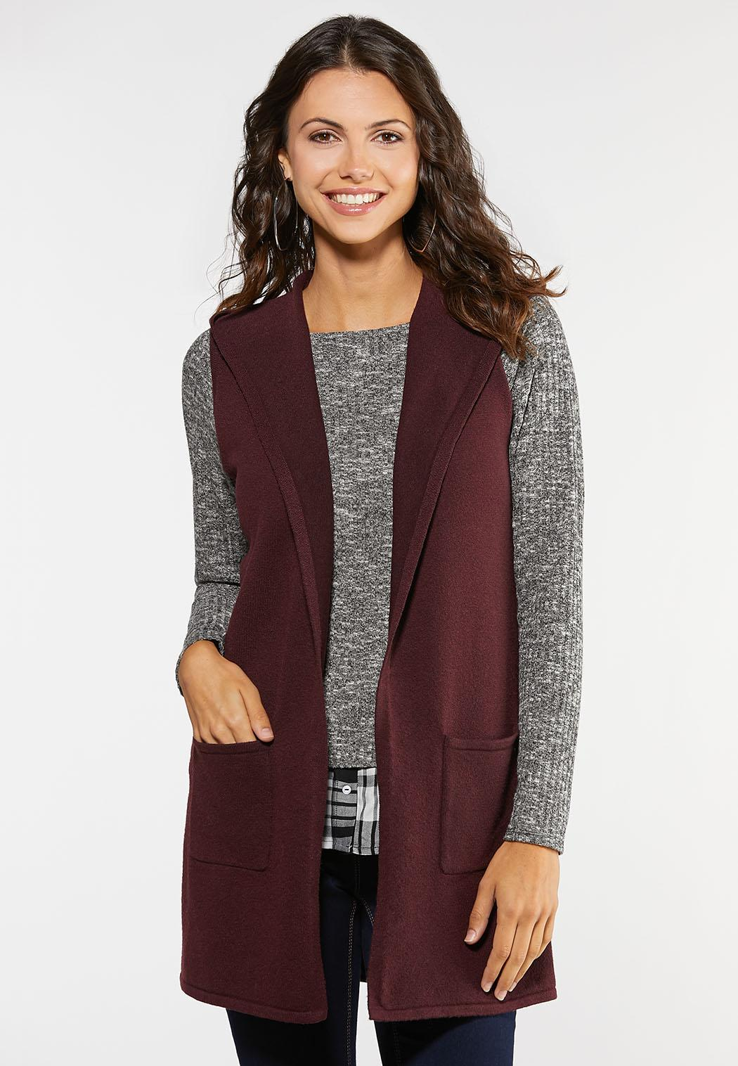 Hooded Sweater Vest