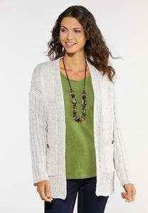 Plus Size Speckled Cardigan Sweater