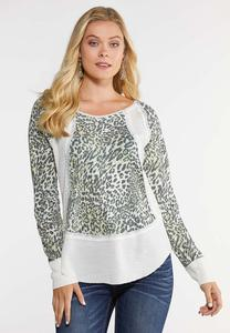 Ivory Animal Thermal Top