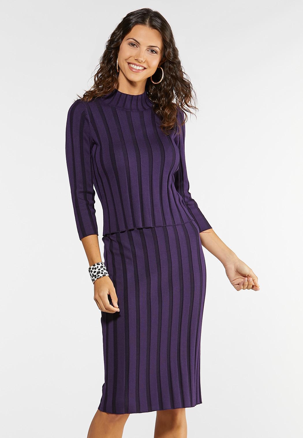 Plus Size Ribbed Sweater Set