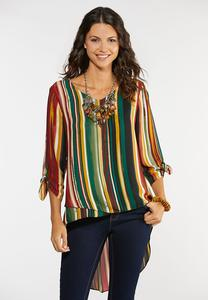 Plus Size Dramatic High-Low Top