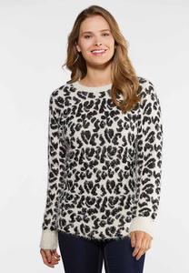 Leopard Eyelash Sweater