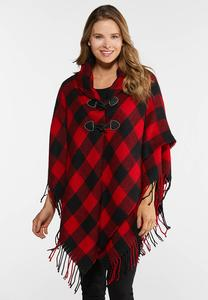 Buffalo Plaid Toggle Poncho