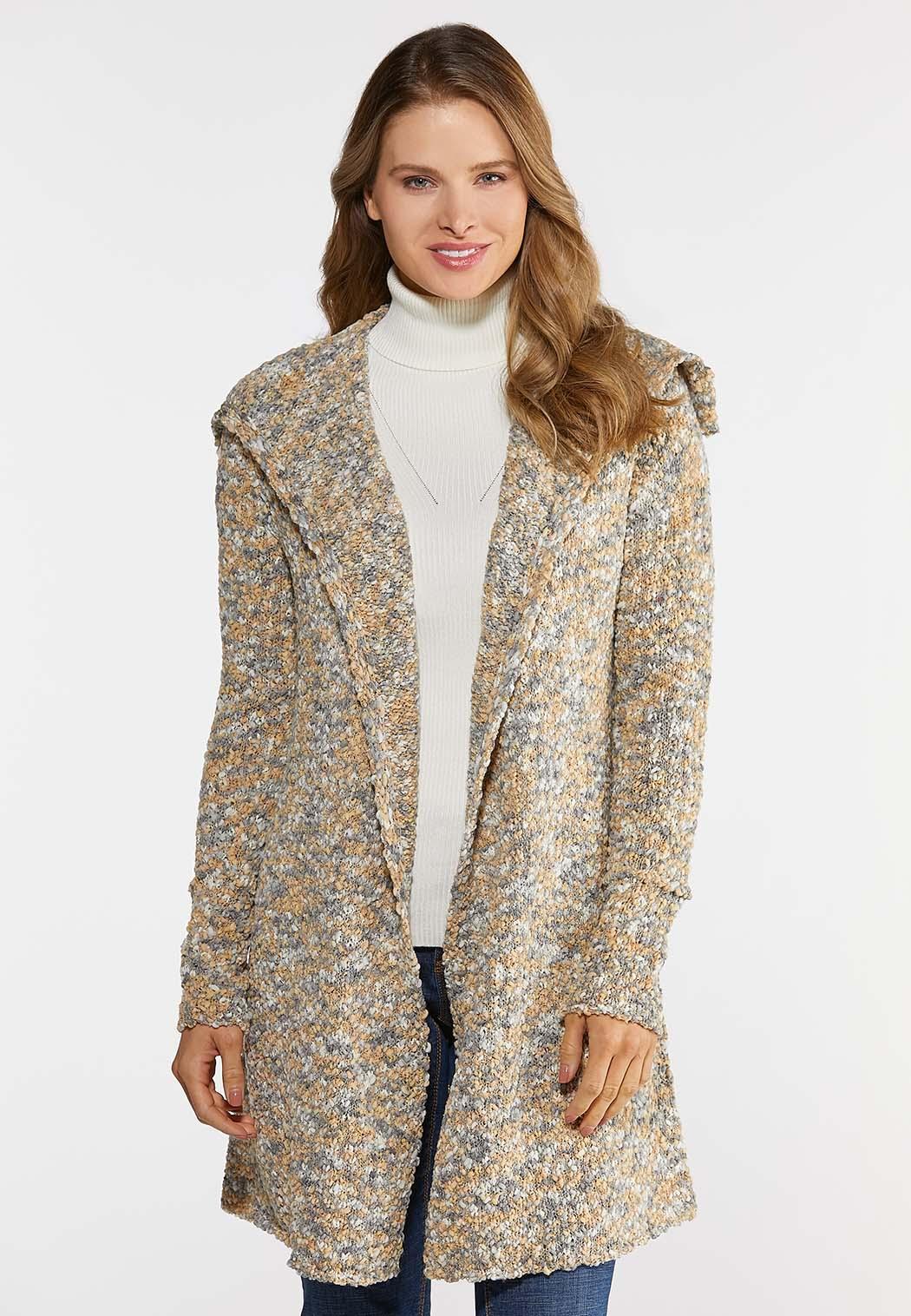 Multi Popcorn Cardigan Sweater