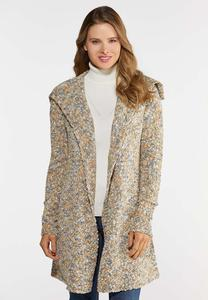 Plus Size Multi Popcorn Cardigan Sweater
