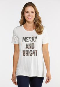 Plus Size Merry And Bright Tee