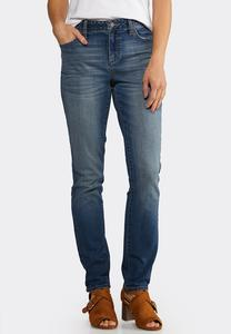Petite Washed Skinny Jeans