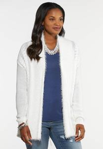 Plus Size Popcorn Knit Cardigan