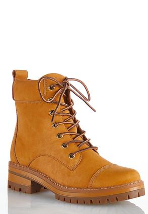 Wide Width Lace Up Lug Hiker Boots