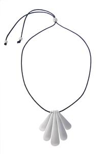 Mod Tear Pendant Cord Necklace