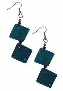 Tiered Square Earrings