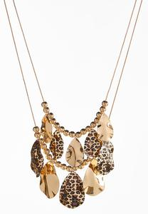 Shaky Hammered Leopard Necklace