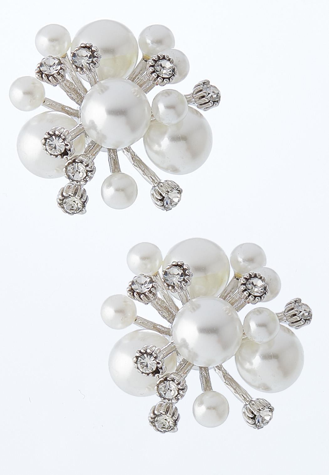 Pearl And Stone Burst Earrings