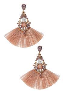 Blush Fan Earrings