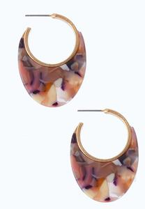Cashmere Lucite Hoops
