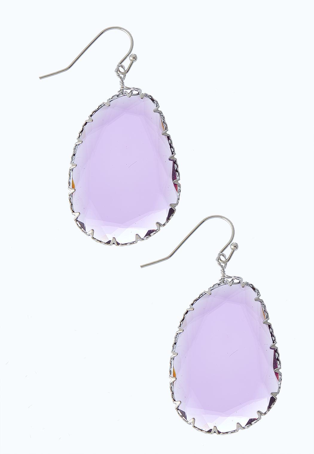 Faceted Dangle Earrings