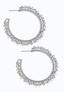 Rondelle Glass Hoop Earrings