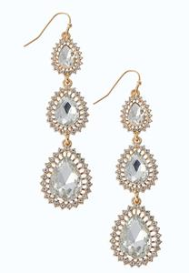 Gold Burst Drop Earrings