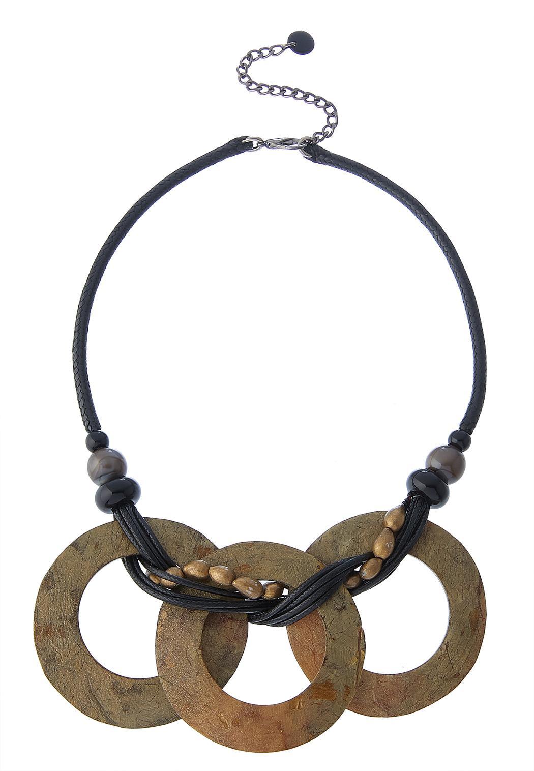 Interlocking Circle Cord Necklace