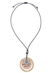 Inspirational Tri-Tone Pendant Necklace