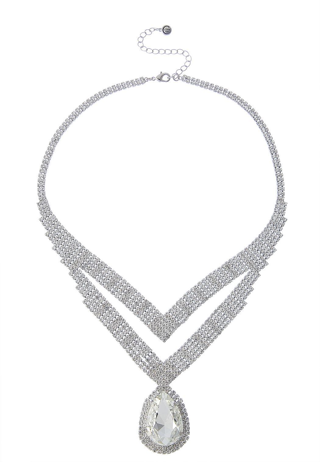 Chevron Stone Statement Necklace