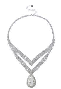 Chevron Stone Statement Necklace