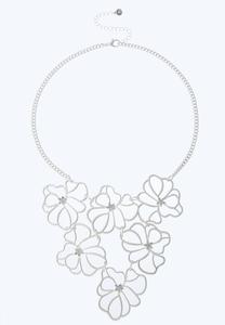 Flower Bib Necklace