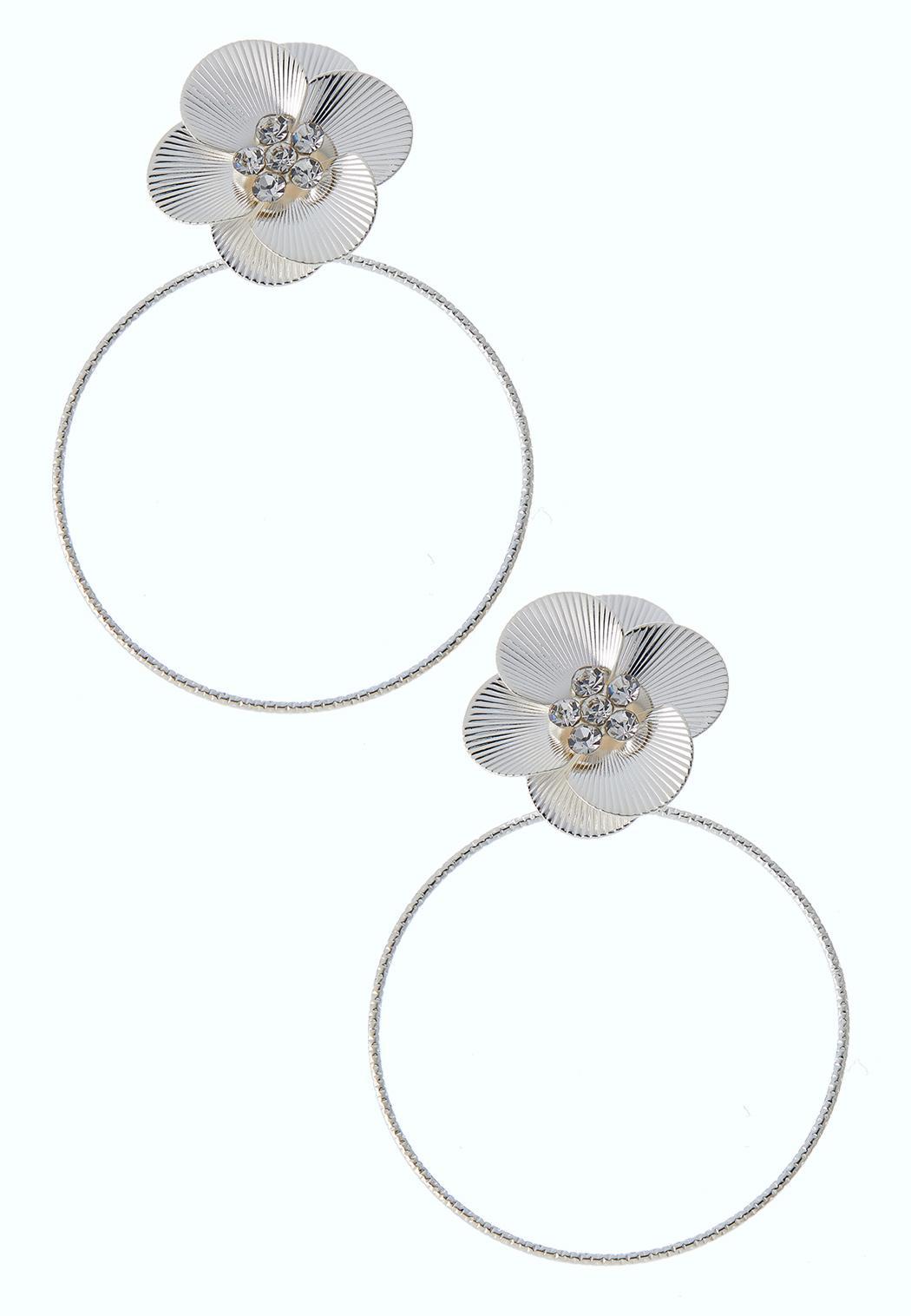 Flower Power Hoop Earrings