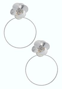 Flower Power Hoop Earrings