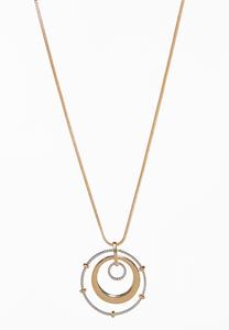 Circle Pendant Long Necklace