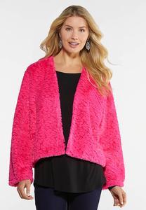 Hot Pink Faux Fur Jacket