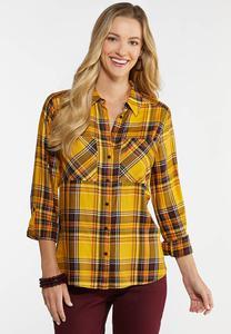 Golden Plaid Shirt
