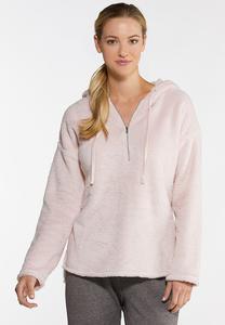 Plus Size Cozy Half Zip Hoodie