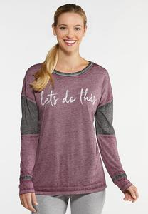 Plus Size Lets Do This Top