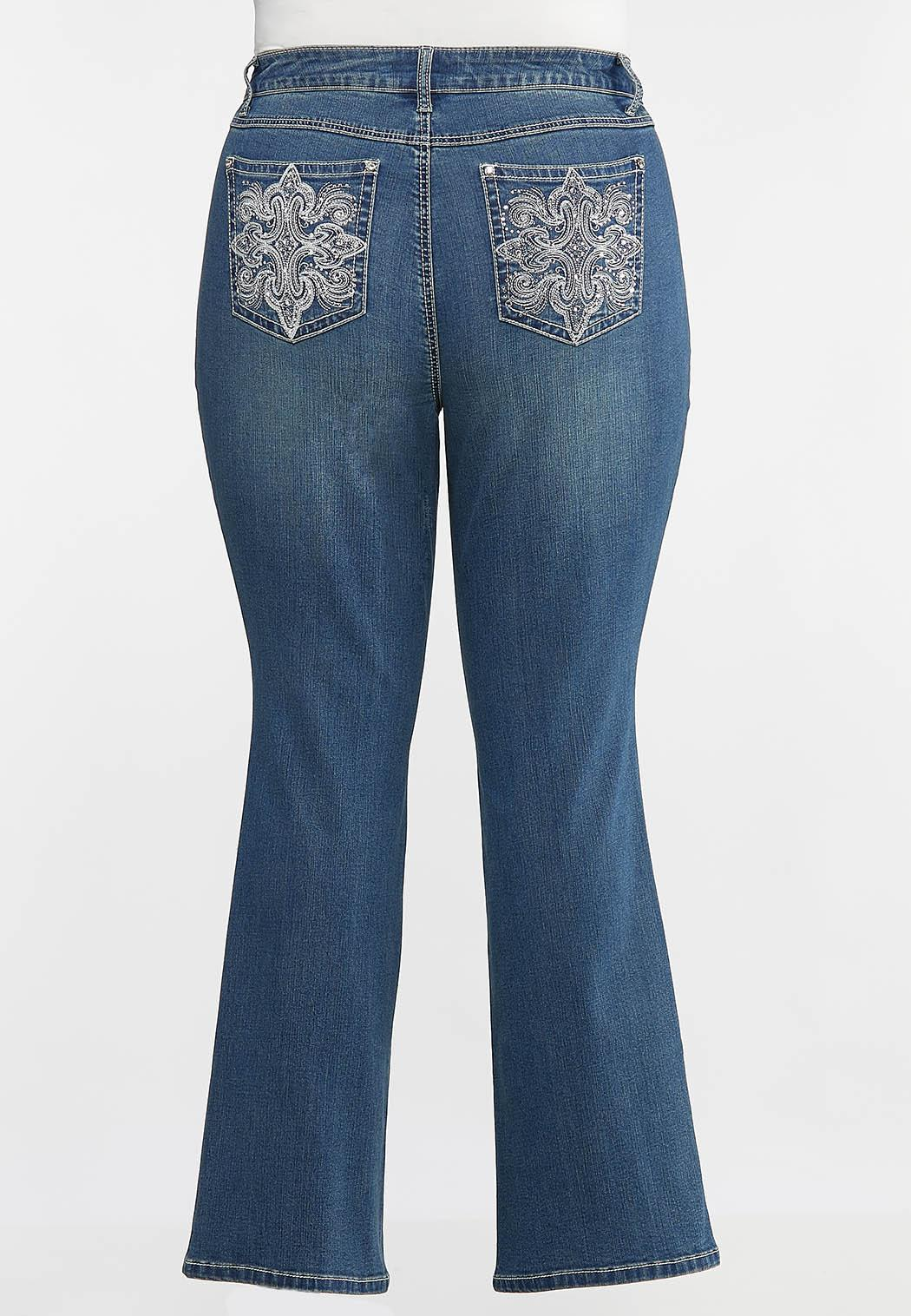 Plus Size Burst of Bling Bootcut Jeans