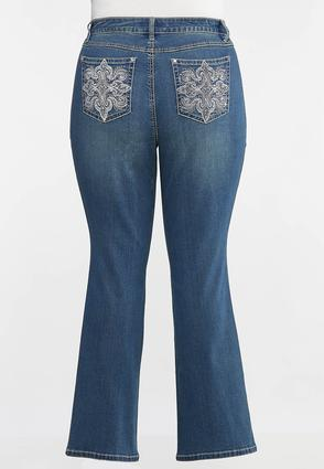 Plus Petite Burst Of Bling Bootcut Jeans