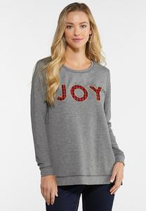 Plaid Joy Sweatshirt
